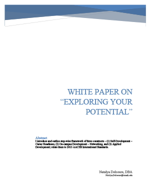 "Image: Cover: WHITE PAPER ON ""EXPLORING YOUR POTENTIAL"""